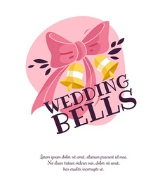 Wedding day design vector
