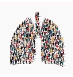 People lungs medicine crowd vector