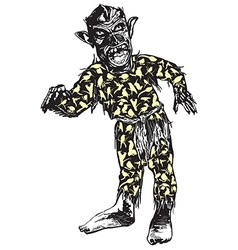 Zombie in pajamas vector