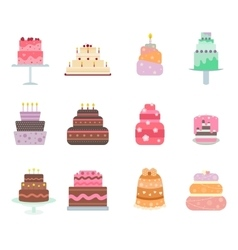 cake collection icons vector image