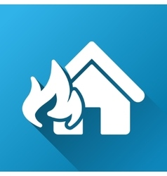 Realty fire damage gradient square icon vector