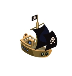 Pirate ship toy icon vector