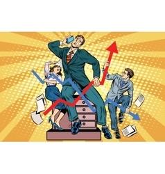 Businessmen and sales schedules vector