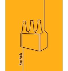 pack of beer bottles concept design background vector image