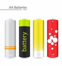 aa batteries vector image