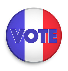 Badge of election 2017 in france vector