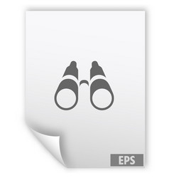 Binoculars icon symbol vector