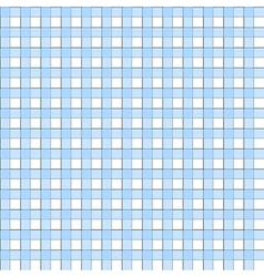 Blue white check plaid seamless pattern vector