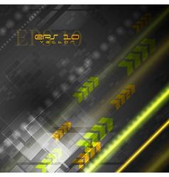 Bright hi-tech background vector image vector image