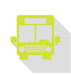 Bus sign pear icon with flat style vector