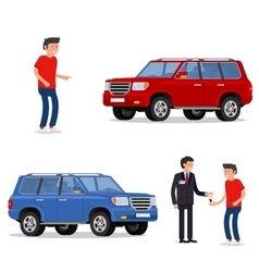 design concept of choice car buying sale rent vector image vector image