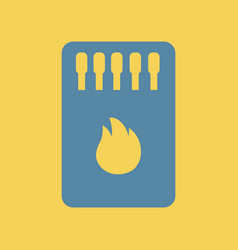 Flat icon matchbox and matches vector