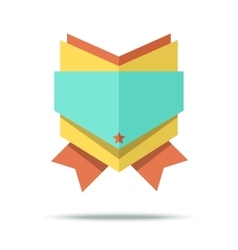 Flat style badge icon with vector image