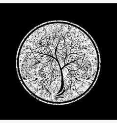 Floral logo 08 grunge vector