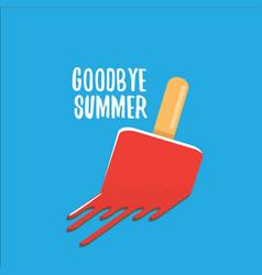 Goodbye summer concept vector