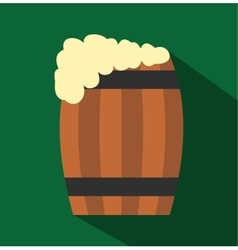 Keg of beer flat icon vector image vector image