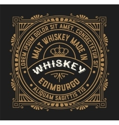 Old label design for whiskey and wine label vector