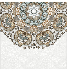 ornamental abstract circle floral background vector image vector image
