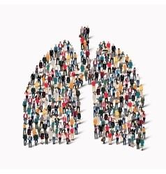 people lungs medicine crowd vector image