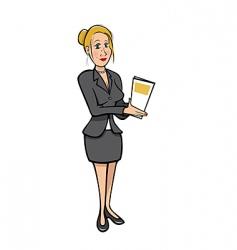 sexy secretary vector image vector image