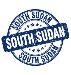South sudan blue grunge round vintage rubber stamp vector