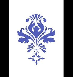 Stylized floral design element blue flower vector