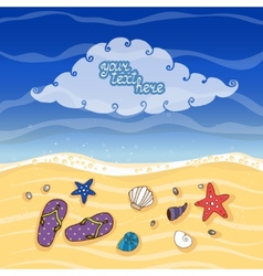 Summer tropical beach banner vector image