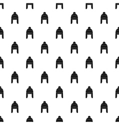 Winter hat pattern simple style vector
