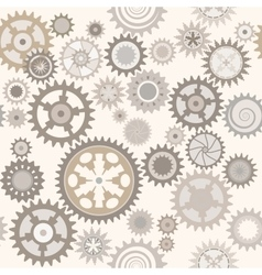 Clock cogwheels retro seamless pattern vector