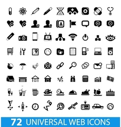 Set of 72 universal web icons vector image