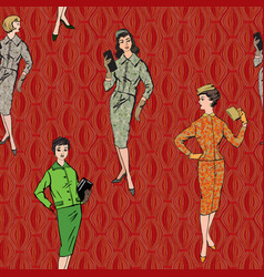 Vintage dressed girl 1920s style retro fashion vector