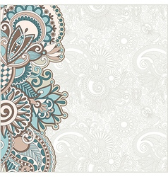 Hand draw floral ornate card announcement vector