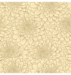Seamless pattern with hand-drawn flowers vector