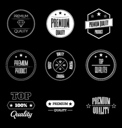 Collection of vintage product quality signs vector