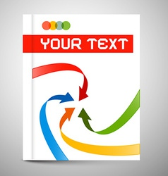 Modern book or brochure cover design - vector