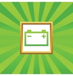 Accumulator picture icon vector