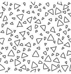 Triangle geometric seamless pattern hand drawn vector