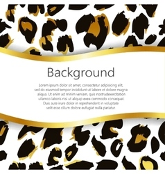 Abstract background with leopard print design vector