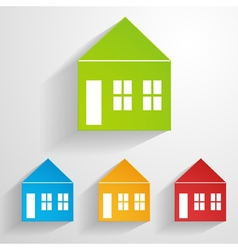 Paper house icons vector