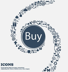 Buy sign icon online buying dollar usd button in vector