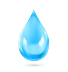 Blue water drop icon vector