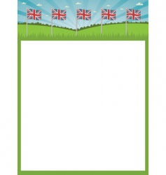 British flag poster vector image vector image