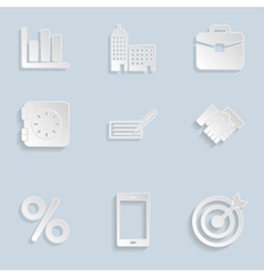 Business Paper Icons Set Vol 2 vector image