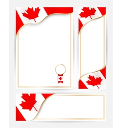 Canadian flag banners set vector