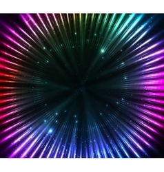 Colorful shining cosmic lights abstract background vector