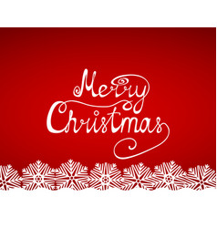 Congratulation of merry christmas vector