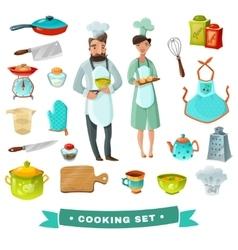 Cooking Cartoon Set vector image