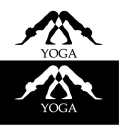 Downward facing dog yoga pose vector