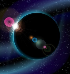Eclipse of planet vector