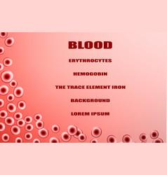 Erythrocytes vector